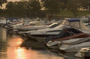 Sunrise at Diversey Harbor