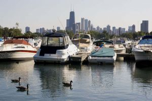 Diversey Harbor and boats