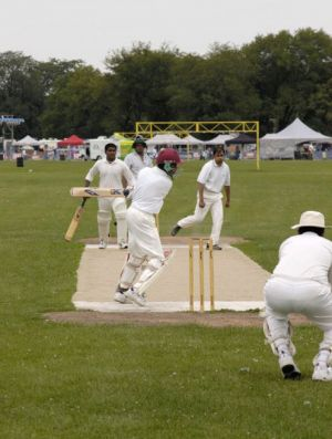 Hyde Park neighborhood in Chicago, cricket players