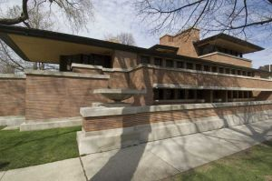Frank Lloyd Wrights Robie House in Hyde Park neighborhood in Chicago