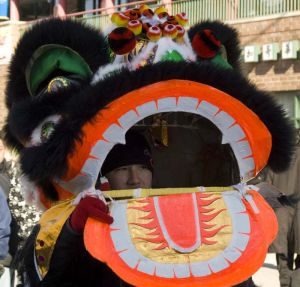 Chinese New Year celebration in Chinatown in Chicago