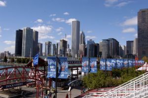 Navy Pier and Chicago skyline - Chicago Skyline Photos