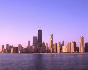North Avenue view of Chicago Skyline  - Chicago Skyline Photos