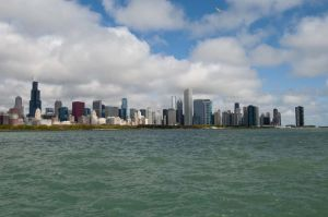 Chicago skyline photo from Adler Planetarium