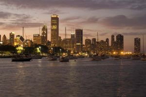 Skyline and Monroe Harbor - Chicago Skyline Photography