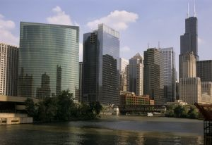 Chicago Skyline and River  - Chicago Skyline Photography