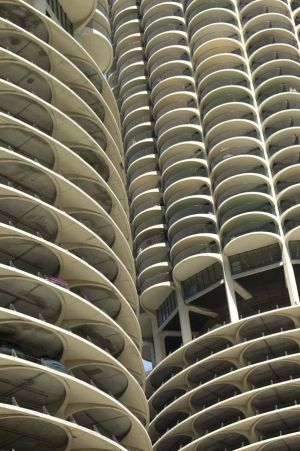 Marina City designed by Bertrand Goldberg - Chicago photographs