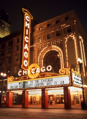 Chicago Theater at night - Chicago photographs