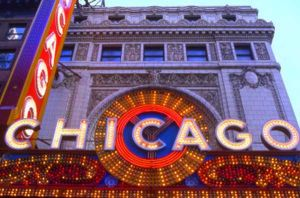 Chicago Theater sign on State Street - Chicago photographs