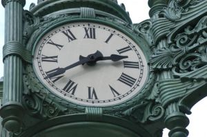 Marshall Fields Clock in Chicago Loop  - Chicago photography