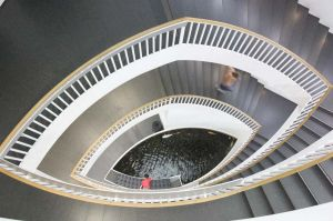 Museum of Contemporary Art in Chicago, stairway  - Chicago photography