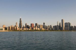 Chicago Skyline and Lake Michigan  - Chicago photography