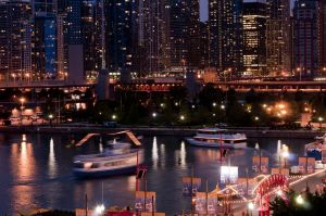 Skyline from Navy Pier at night - Chicago photographs