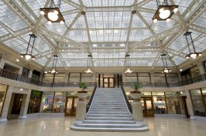 Rookery Building by Burnham and Root and Frank Lloyd Wright