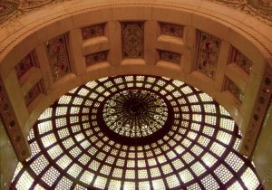 Cultural Center dome - Chicago architecture photography