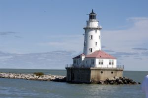 Lighthouse in Lake Michigan - Chicago lakefront photography