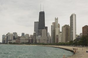 Skyline North Avenue beach - Chicago lakefront photos