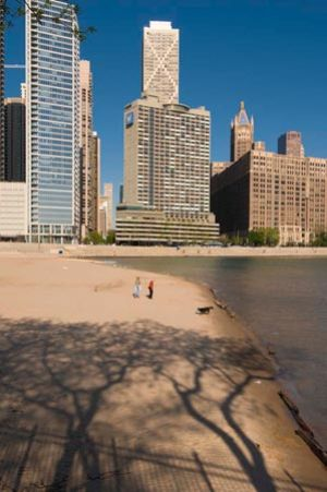 Skyline at Ohio Beach - Chicago lakefront photography