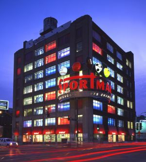Sportmart on LaSalle Street in Chicago - Chicago architecture photographer