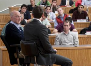 Hank Paulson and Chicago Booth students