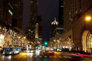 Michigan Avenue and Water Tower