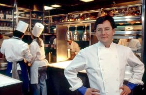Charlie Trotter in the kitchen in 1995