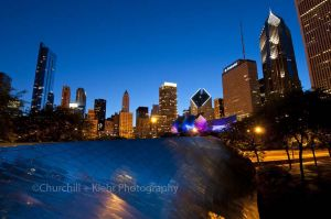 Chicago night photography