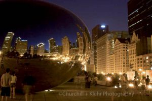 Cloud Gate - Chicago night photography