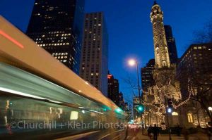 Michigan Avenue and Water Tower - Chicago night photography