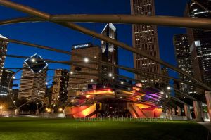 Pritzker Pavilion - Chicago night photography