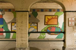 underpass mural in Hyde Park