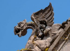 Univ of Chicago is famous for its gargoyles