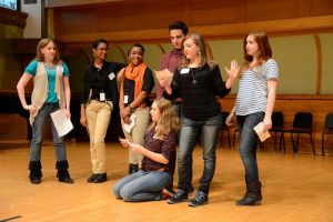 Students performing Shakespeare in Chicago