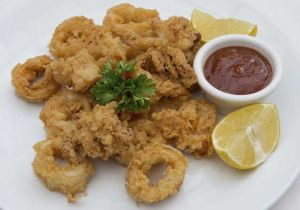 Athena's delicious fried calamari