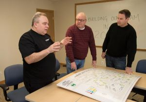 Discussing installation plans in Plainfield