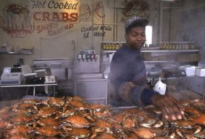 Man selling crabs in Washington DC , Chicago portrait photographer