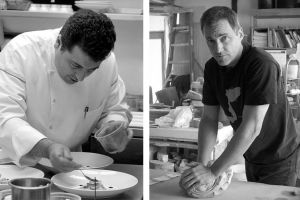 Chef Jacky Pluton (L); Jon Hook potter (R) -- Chicago photographer