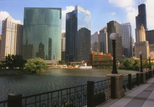 from bend in the Chicago River