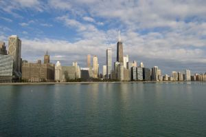 from park by Navy Pier