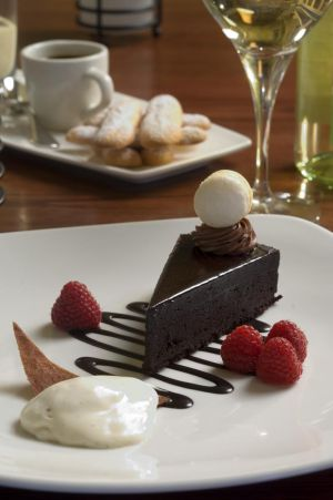 Chocolate Cake at Extra Virgin restaurant -  Chicago restaurant photography