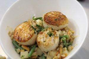 Sauteed scallops -- Chicago food photographer
