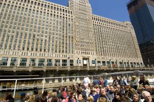 Historic Merchandise Mart and architecture tour boat