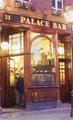 Palace Bar pub, popular hangout in Temple Bar