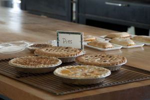 Fresh-baked pies, Country Lane Bakery in Middlebury