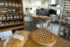 Fresh-baked pie and bread, Country Lane Bakery in Middlebury