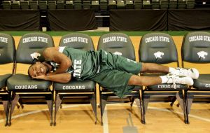 Chicago State University basketball player