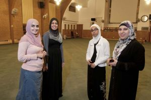 Young women at Chicago mosque
